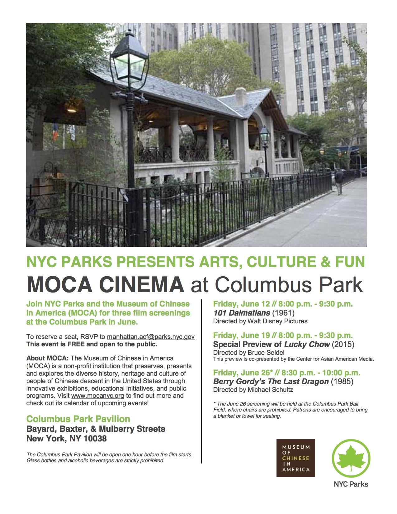 MOCA Film Series - Columbus park