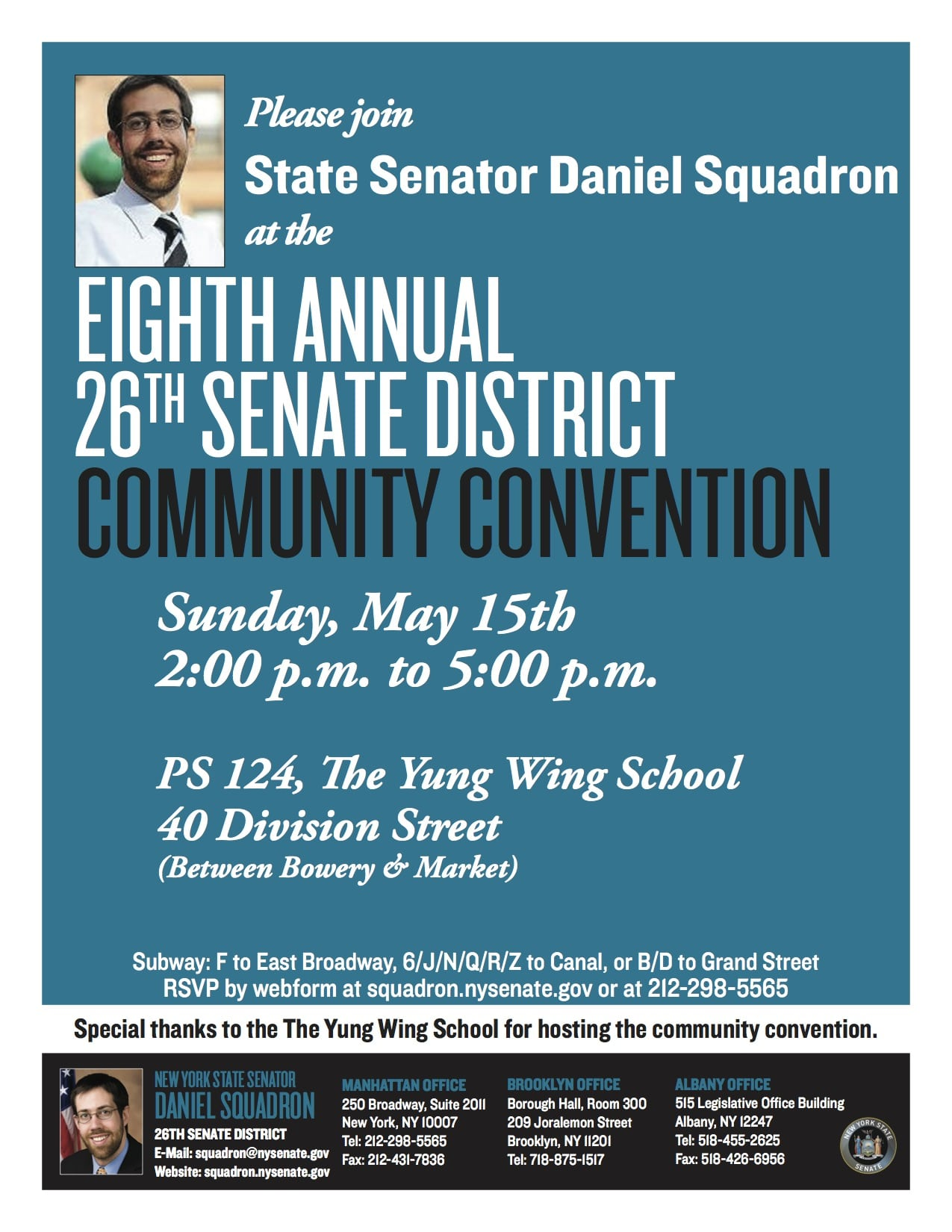 Squadron 2016 Community Convention flyer
