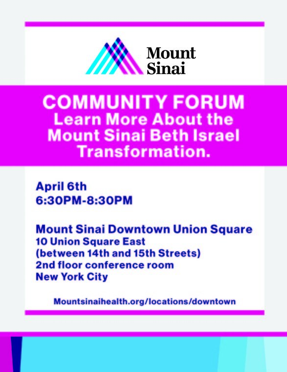 Community Forum Learn About Mount Sinai Beth Israel